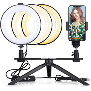 LED Ringlicht   360° drehbar mit vielen Modi ab 11,99€   Prime