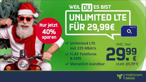 🔥 o2 Free Unlimited LTE Max für 29,99€ mtl. (statt 50€)   monatlich kündbar