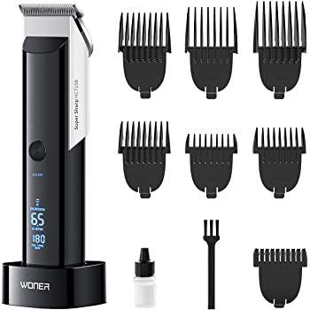 Woner HC715B Haarschneidemaschine mit 5 Geschwindigkeiten & 7 Aufsätze für 19,99€ (statt 40€)