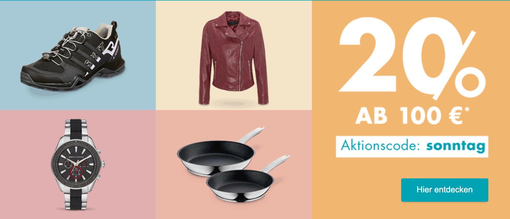 Galeria Sonntags Schätze: 20% extra Rabatt auf (fast) alles ab 100€