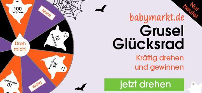 Gratis Babypoints Guthaben beim Babymarkt durch Glücksrad sammeln