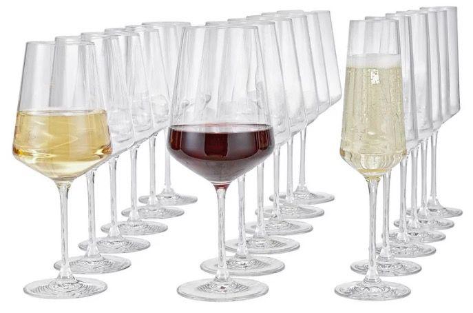 Leonardo Puccini Gläserset 18teilig (je 6x Sekt, Rotwein, Weißwein) für 43,87€ (statt 60€)