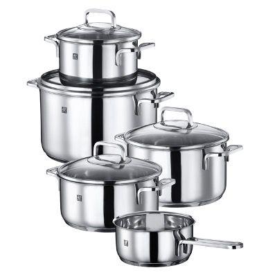 Zwilling Kochtopf Set Quadro 5 tlg. + Kochmesser Compact Gourmet für 103,99€ (statt 184€)