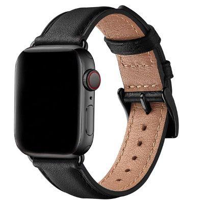 SUNFWR Leder-Armband für die Apple Watch 38mm bis 44mm für 6,80€ (statt 17€)