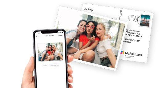 3x Personalisierte Postkarte mit EU Motiv weltweit kostenlos über MyPostcard verschicken
