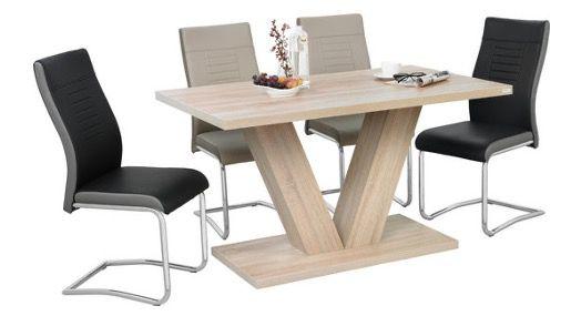 Carryhome Schwingstuhl in Lederlook in Schwarz und Creme für 33€ (statt 50€)