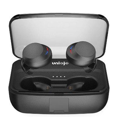 UNIOJO T3 Bluetooth 5 InEars TWS IPX8 inkl. 3000mAh Ladebox für 18€ (statt 40€)