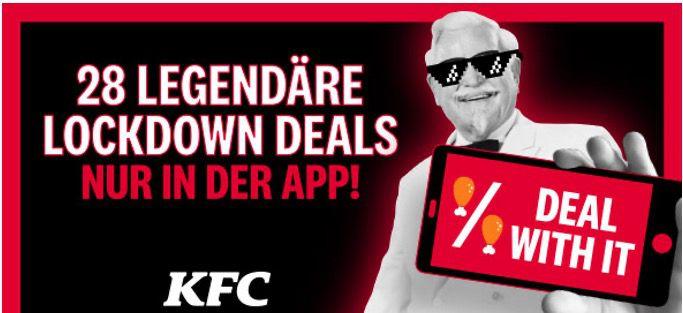 KFC Lockdown Deals 28 Tage in der APP   z.B. heute 15 Hot Wings für 5€ (statt 10€)