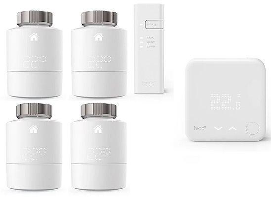 tado Smart Starter Kit V3+ mit 4 Thermostaten und Funk Temparatursensor für 259,90€ (statt 357€)