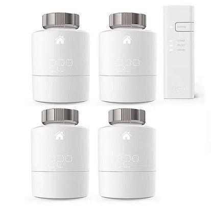 tado Smart Starter Kit V3+ mit 5 Thermostaten und Funk-Temparatursensor für 299€ (statt 363€)