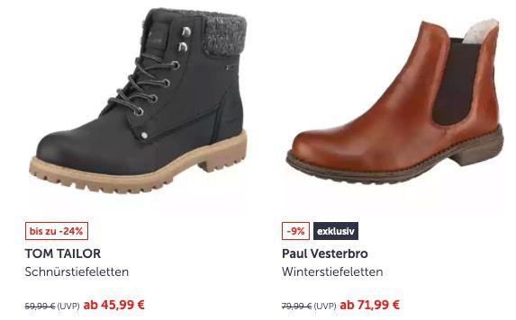 mirapodo: 22% Rabatt auf Damenschuhe + keine Versandkosten   z.B. Tom Tailor Winterstiefel mit hohem Schaft nur 38,99€