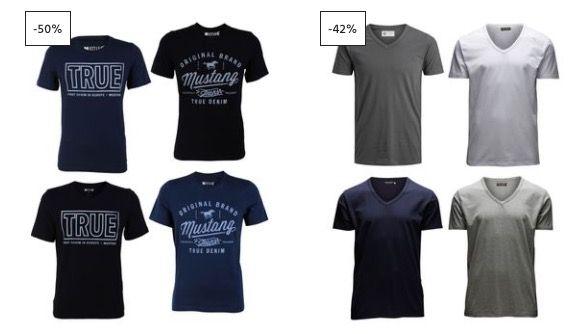 4er Pack T Shirts ab 20€ bei Jeans Direct + keine VSK ab 40€