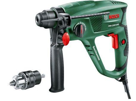 Bosch PBH 2500 SRE Bohrhammer inkl. Adapterbohrfutter für 105,90€ (statt 135€)