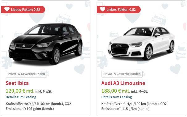 Leasingmarkt: Singles Week Lagerwagen Knallerangebote   z.B. VW Golf GTI mit 245 PS für 185€ mtl. netto