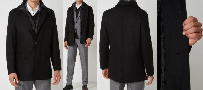 HUGO BOSS Kurzmantel Barelto aus Wollmischung in Schwarz für 224,99€ (statt 282€)