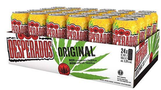 24x Desperados Tequila Flavoured Bier in der Dose je 0,5 Liter für 29,99€ (statt 47€)