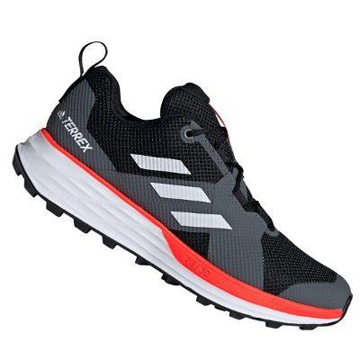 adidas Terrex Two Herren Trailrunningschuh in Schwarz Weiß für 54,95€ (statt 65€)