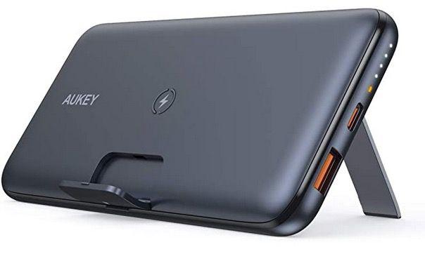 AUKEY PB WL02 Powerbank Basix Pro für kabelloses Laden mit PD3.0 & QC 3.0 für 34,49€ (statt 46€)