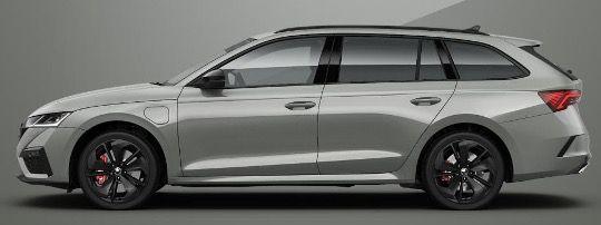 Abgelaufen! Skoda Octavia Combi RS iV Hybrid mit 245PS in Stahl Grau für monatlich 219€   LF 0,57
