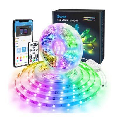 Govee RGB LED Stripes 2x 5 Meter (App und Fernbedienung) mit Musikmodus für 25,99€ (statt 32€)