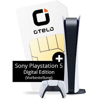 🔥 Gratis Sony PS5 Digital Edition mit Vodafone Flat von otelo mit 40GB LTE für 29,99€ mtl.