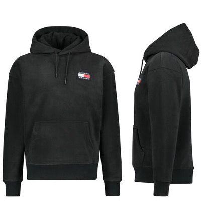 Tommy Hilfiger Jeans Herren Fleece Sweatshirt mit Kapuze in Schwarz für 97,72€ (statt 119€)