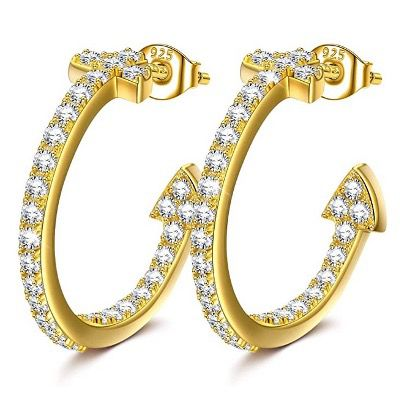 NINAMISS Damen Ohrringe aus 925er Silber mit Zirkonia für 9,99€ (statt 26€)