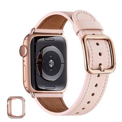 50% Rabatt auf MNBVCXZ Lederbänder für Apple Watch 38mm bis 44mm ab 9,49€ (statt 19€)