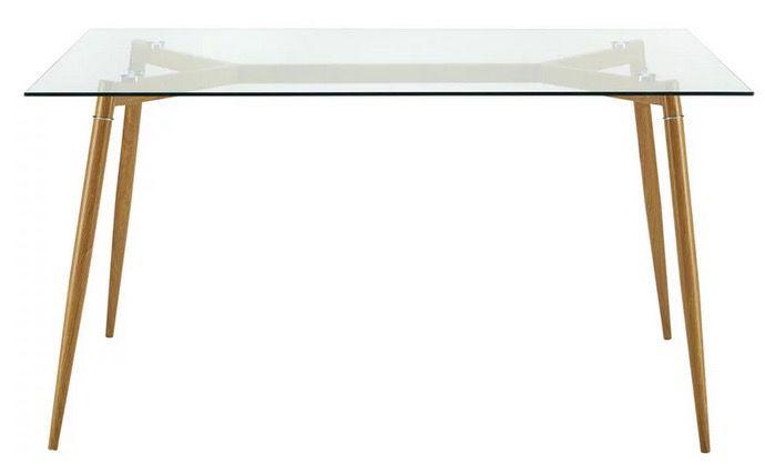Bessagi Home Vinnie Esstisch (140x80cm) mit Glasplatte ab 69,30€ (statt 139€)