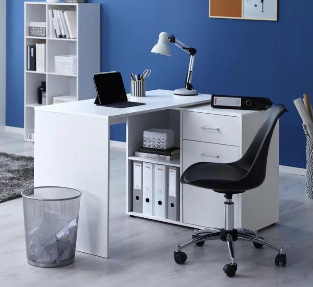 Bessagi Home Schreibtisch Basic in Weiß (150/83/74 cm) für 92,88€ (statt 139€)