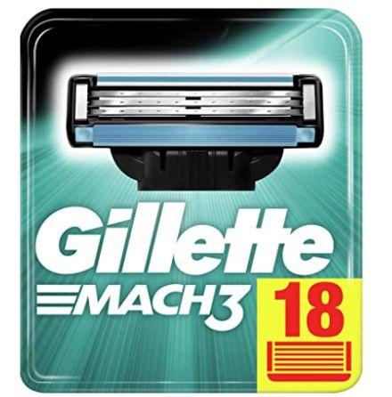 18er Pack Gillette Mach3 Rasierklingen ab 17,84€