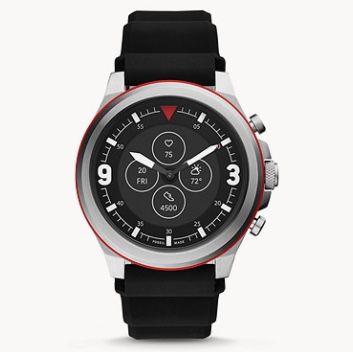 Knaller! 🔥 Fossil HR Latitude Hybrid Smartwatch mit Silikon Armband für 58,90€ (statt 198€)