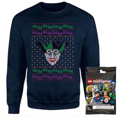 DC Joker Christmas Sweater (Damen, Herren, Kinder) + Lego Minifigur für 18,99€ (statt 35€)