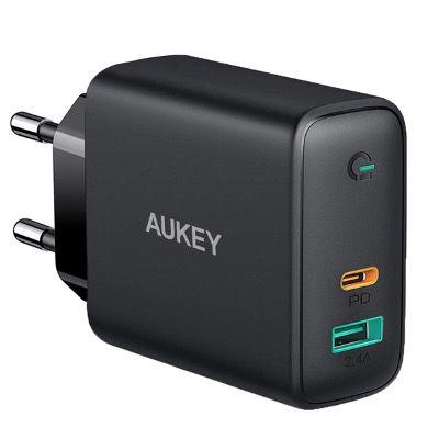 AUKEY USB-C Ladegerät 60W Power Delivery mit Dynamic Detect für 26,49€ (statt 50€)