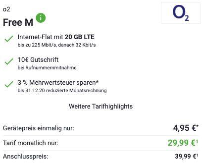 Samsung Galaxy S20 5G für 4,95€ + o2 Flat mit 20GB LTE für 29,99€ mtl. + 6 Monate Spotify Premium gratis
