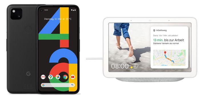 Google Pixel 4a + Nest Hub für 29,99€ mit Telekom Allnet Flat inkl. 5GB LTE für 17,99€ mtl.