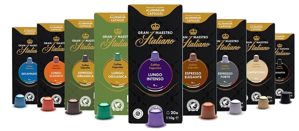 5% Rabatt auf bereits reduzierte Gran Maestro Italiano Kapseln   z.B. 60 Tassen für 14€ (statt 18€)