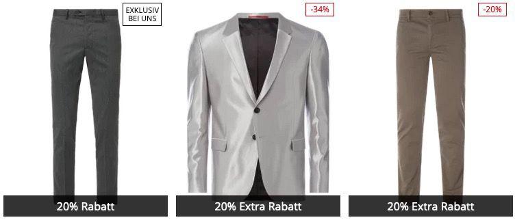 Peek & Cloppenburg* BlackWeek Aktion mit 20% Extra Rabatt auf Anzüge, Mäntel, Kleider & Co.