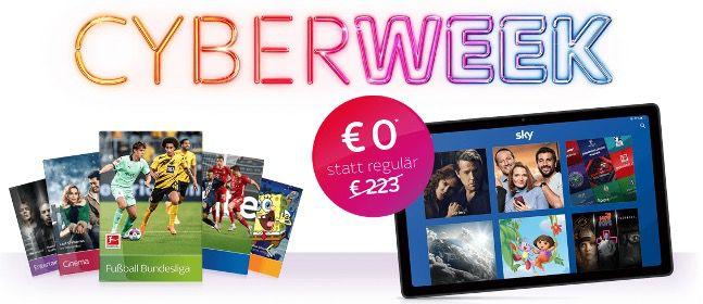 BlackWeek: Sky Komplett im Jahresabo für 45€ mtl. (danach mtl. kündbar)   dazu Galaxy Tab A7 gratis