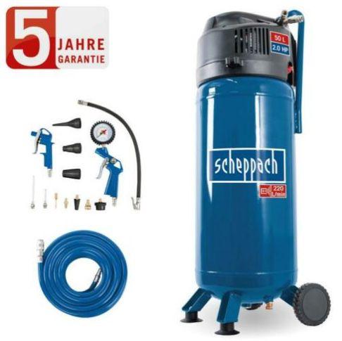 Scheppach 50 Liter Kompressor HC51V + 13 tlg. Druckluft Set für 139,90€ (statt 206€)
