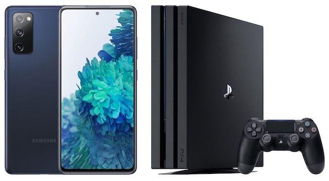Samsung Galaxy S20 FE + PlayStation 4 Pro für 79€ + Telekom oder Vodafone Allnet Flat mit 10GB LTE für 29,99€ mtl.