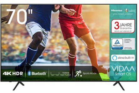 Hisense 70AE7000F   70 Zoll UHD Fernseher für 649€ (statt 729€)