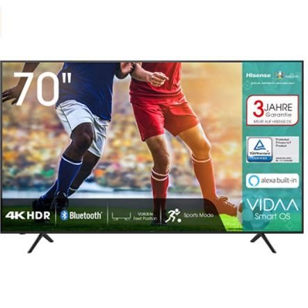 Hisense 70AE7000F – 70 Zoll UHD Fernseher für 729€ (statt 799€)
