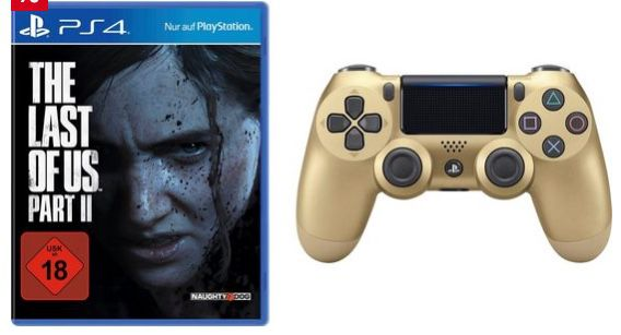 The Last of Us Part II (PS4) inkl. Dualshock Wireless Controller in Gold für 69€ (statt 94€)   Neukunden nur 50,55€