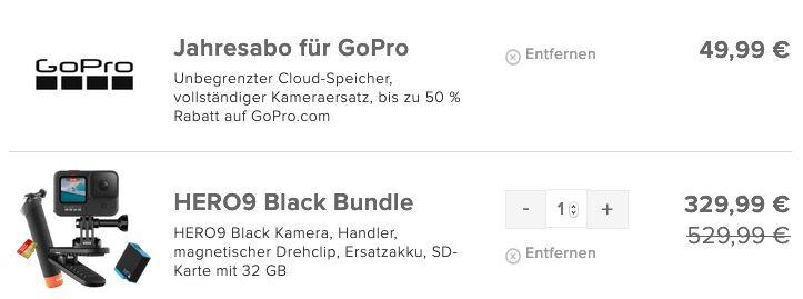 GoPro HERO9 Black Bundle mit viel Zubehör für 379,98€ (statt 430€)