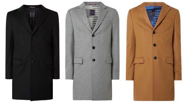 Tommy Hilfiger Kurz Wintermantel Wool Blend mit Reverskragen in 4 Farben für 199,99€ (statt 285€)