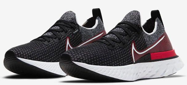 Nike React Infinity Run Flyknit Herren Laufschuh in Schwarz Rot für 71,98€ (statt 112€)