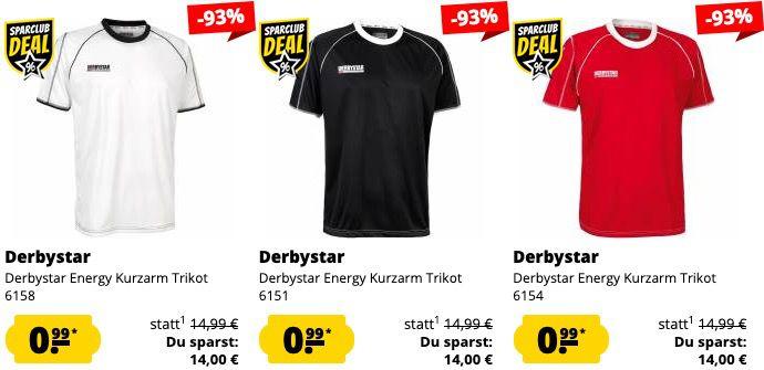 Derbystar Fixpreis Sale für 0,99€ je Artikel zzgl. VSK   z.B. Trainings Shorts oder Trikots
