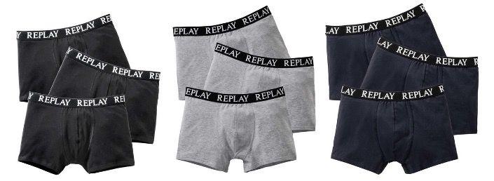 6er Pack Replay Boxershorts in 3 Farben für 32€ (statt 42€) + 10x FFP2 Masken gratis