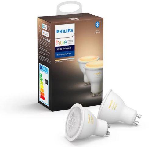 6er Pack Philips Hue White Ambiance GU10 Bluetooth Leuchten für 84,90€ (statt 108€)
